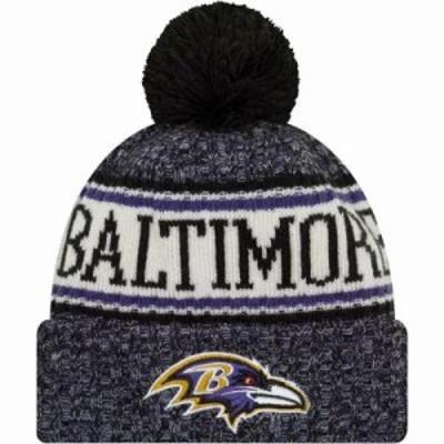 ニューエラ ニット Baltimore Ravens Sideline Cold Weather Black Sport Knit