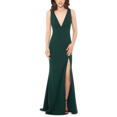 ベッツィアンドアダム Betsy & Adam レディース パーティードレス Vネック ワンピース・ドレス Deep V-Neck Gown Emerald Green