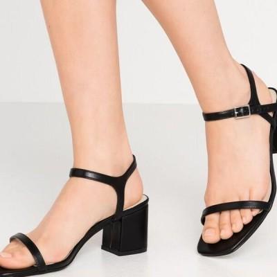 レディース サンダル SQUARE BLOCK HEEL - Sandals - black