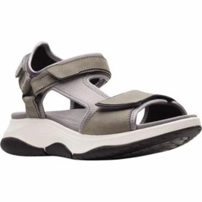 クラークス Clarks レディース サンダル・ミュール ウェッジソール シューズ・靴 Wave2.0 Skip Wedge Active Sandal Grey Textile/Nubuck