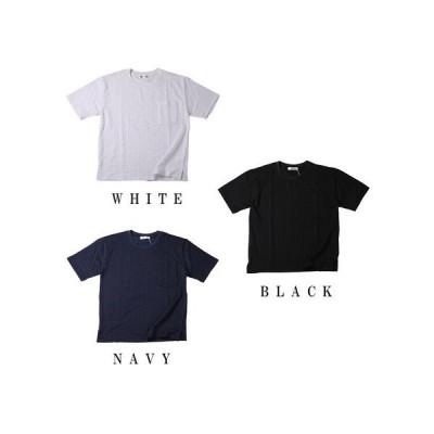 シアサッカー素材 半袖Tシャツ シンプル メンズ 快適 夏 sts-22371 563