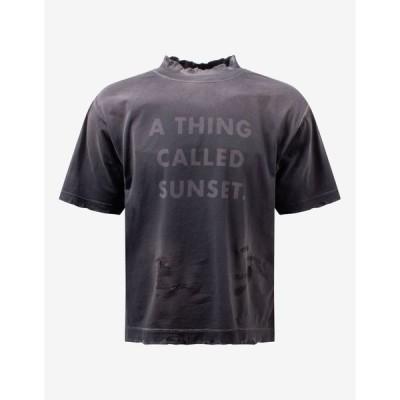 パーム エンジェルス Palm Angels メンズ Tシャツ トップス ATCS Boxy Distressed T-Shirt Grey