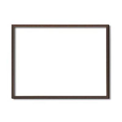 デッサン額縁/フレーム 【小全紙サイズ 660×510mm】 ブラウン 壁掛けひも付き 化粧箱入り 5767