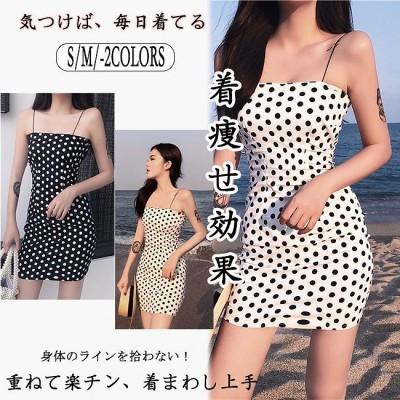 ワンピース 韓国ファッション レディースファッション ショート丈 袖なし 春夏 膝上 セクシー タイト 細見え