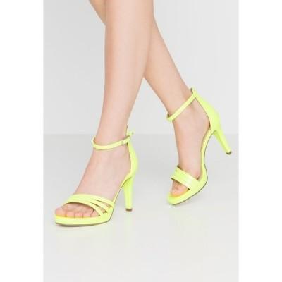 タマリス サンダル レディース シューズ High heeled sandals - yellow neon