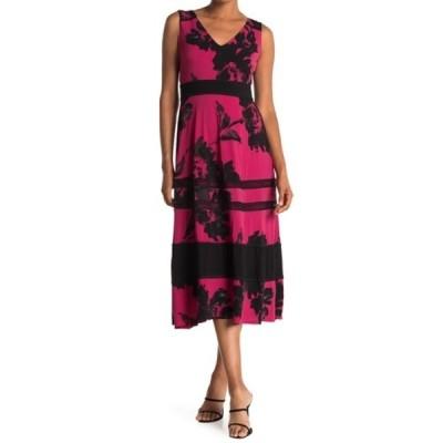 テイラー レディース ワンピース トップス Floral Jersey Banded Dress GIANT HIBI