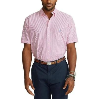 ラルフローレン メンズ シャツ トップス Big & Tall Striped Seersucker Short-Sleeve Woven Shirt Pink/White