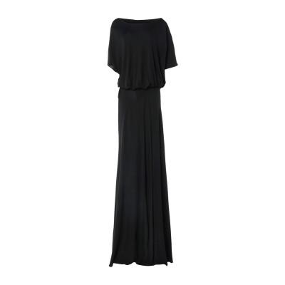 GAI MATTIOLO ロングワンピース&ドレス ブラック 40 レーヨン 100% ロングワンピース&ドレス