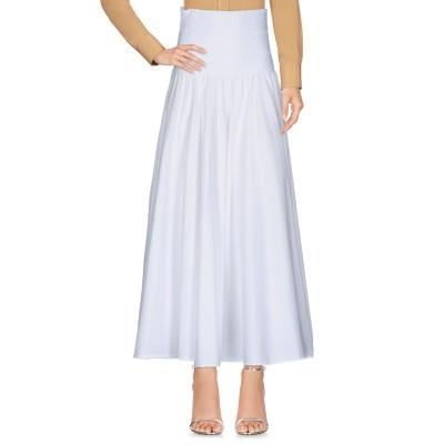 ツインセット シモーナ バルビエリ TWINSET ロングスカート ホワイト 38 コットン 97% / ポリウレタン 3% ロングスカート