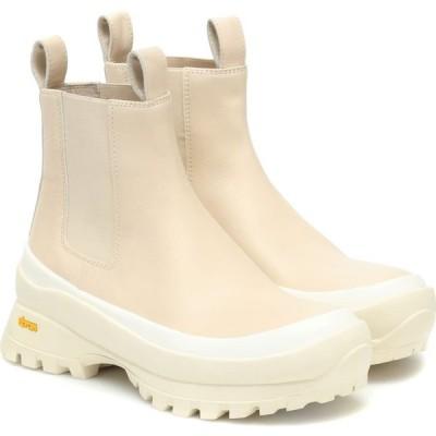 ジル サンダー Jil Sander レディース ブーツ チェルシーブーツ シューズ・靴 leather platform chelsea boots Burro