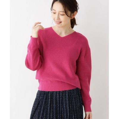 pink adobe(ピンクアドベ) <WEB限定・LLサイズあり><イタリア糸使用>あざやかカラーニット