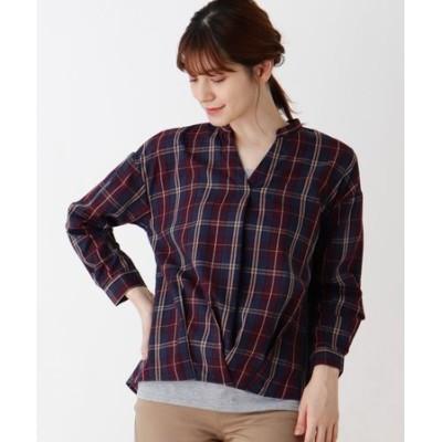 【M-LL/2点セット】チェックシャツ+タンクトップ