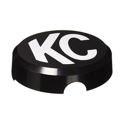 KC HiLiTES 5105 6インチ ラウンドブラックプラスチックライトカバー ホワイトKCロゴ付き シングルカバー