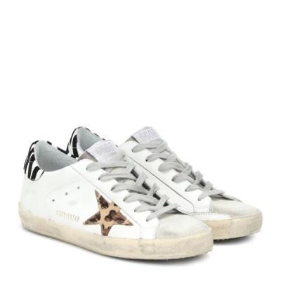 ゴールデン グース Golden Goose レディース スニーカー シューズ・靴 Superstar leather sneakers White Leather/Pony Leo Star/Zi