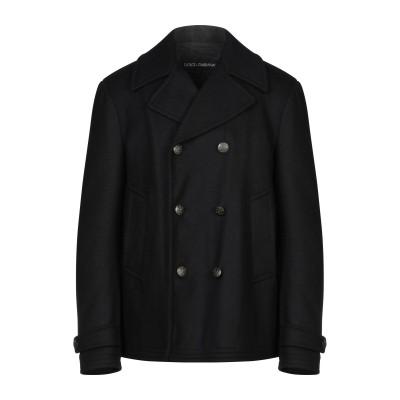 ドルチェ & ガッバーナ DOLCE & GABBANA コート ブラック 46 ウール 80% / ポリエステル 10% / ナイロン 10% コ