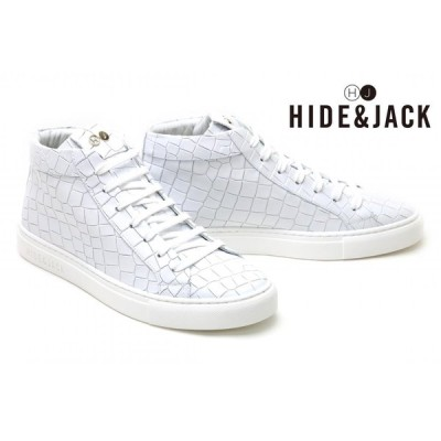 ハイド アンド ジャック HIDE & JACK メンズ スニーカー ホワイトホワイト イタリア製 ESSENCE TUSCANY essence4 whwh