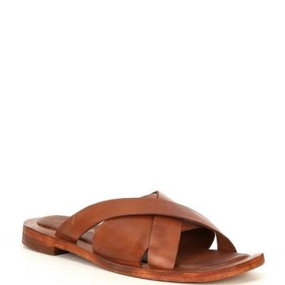 フリーピープル レディース サンダル シューズ Del Mar Leather Slide Sandals Tan