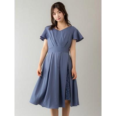 【Rewde】サイドプリーツレースドレス(0R04-A2004)