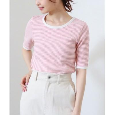 tシャツ Tシャツ クルーネック配色パイピングT