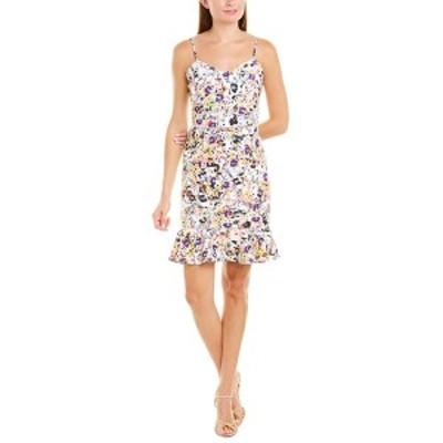 ベッツィジョンソン レディース ワンピース トップス Betsey Johnson Floral Frolic Sheath Dress white