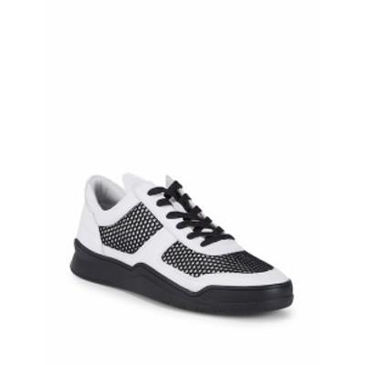 カールラガーフェルド メンズ スニーカー Leather Cut-Out Sneakers