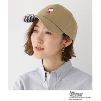 BASESTATION / ピーナッツ PEANUTS 別注 スヌーピー ローキャップ CAP WOMEN 帽子 > キャップ