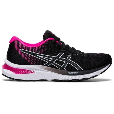 アシックス シューズ レディース ランニング ASICS Women's Gel Cumulus 22 Running Shoes Black/Pink Glo