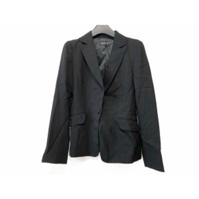 インディビ INDIVI ジャケット サイズ36 S レディース 美品 黒×白 ストライプ【中古】