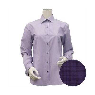 (BRICKHOUSE/ブリックハウス)ウィメンズシャツ長袖形態安定 ワイド衿 パープル系/レディース パープル