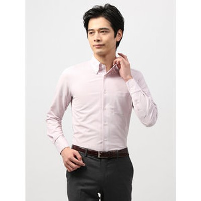 <ノンアイロンジャージー素材>【WE SUIT YOU】ボタンダウンカラードレスシャツ 織柄