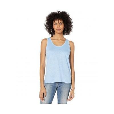 Majestic Filatures レディース 女性用 ファッション トップス シャツ Linen/Elastane Tank Top - Vista Blue