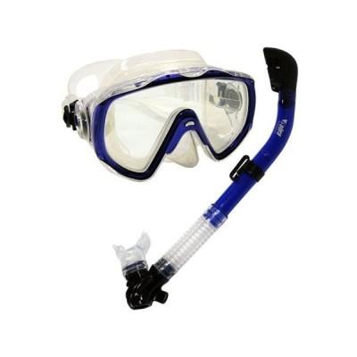 シュノーケリング マリンスポーツ MK160+SK680 Promate Snorkeling Scuba Dive Mask Dry Snorkel Gear