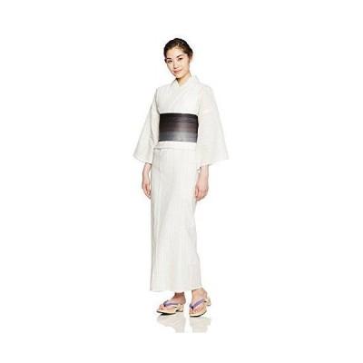 【さらさ】お仕立て上がり浴衣 綿麻 しじら織り 単品 ta-4 (白)