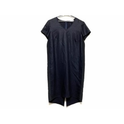 ベイジ BEIGE ワンピース サイズ4 XL レディース 美品 - 黒 Vネック/半袖/ロング【中古】20210105
