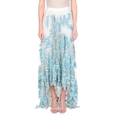 ブルマリン BLUMARINE ロングスカート スカイブルー 40 ナイロン 100% ロングスカート