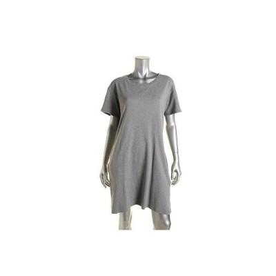 ドレス 女性  セオリー Theory 2157 レディース グレー Heatheレッド 半袖s Tシャツ ドレス L