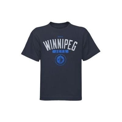 ホッケー NHL USA アメリカ Reebok Winnipeg Jets Preschool Acquisition Tシャツ ネイビー ブルー