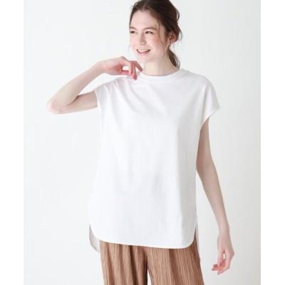 (SHOO・LA・RUE DRESKIP/シューラルー ドレスキップ)USAコットンラウンドヘムTシャツ/レディース オフホワイト(003)