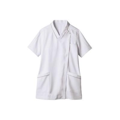 住商モンブラン住商モンブラン スクラブ レディス 半袖 白×グレー SS 73-2100(直送品)
