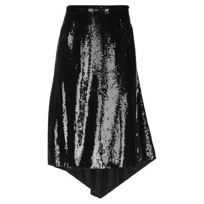 ピンコ PINKO ひざ丈スカート ブラック 38 ポリエステル 100% ひざ丈スカート