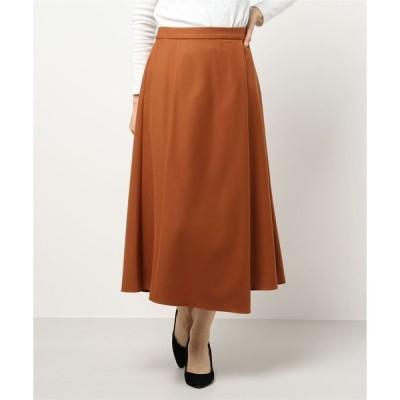 スカート 【手洗い可】ウールストレッチツイルマーメイドスカート
