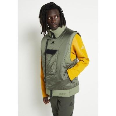 アディダス ジャケット&ブルゾン メンズ アウター Waistcoat - dark green