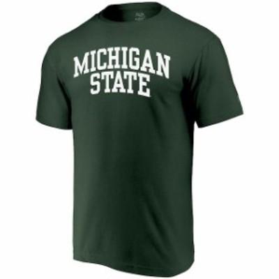 Alta Gracia アルタ グラシア スポーツ用品  Alta Gracia (Fair Trade) Michigan State Spartans Green Arched Wordmark T-Shirt