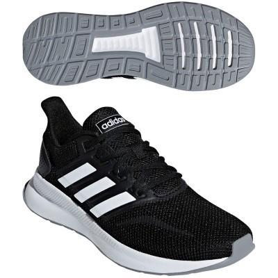 アディダス Adidas FALCONRUN W シューズ 24.5cm コアブラック/ランニングホワイト/グレースリーF17 F36218 レディス