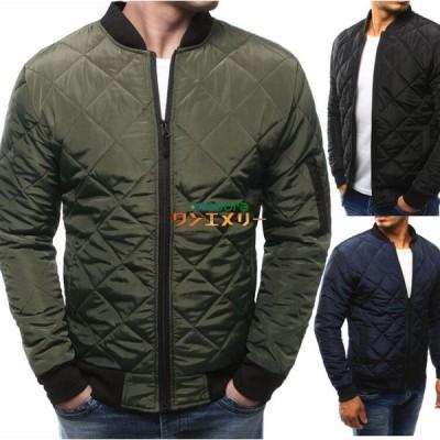 中綿ジャケット メンズ 防寒ジャケット 中綿コート 軽めアウター ジャンパー 軽量 防寒 薄手 ミリタリージャケット 暖 ジャケット  冬服  メンズ アウター