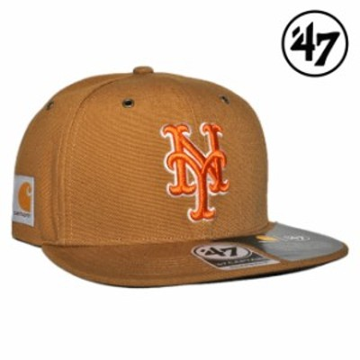 47ブランド カーハート コラボ スナップバックキャップ 帽子 メンズ レディース 47BRAND CARHARTT MLB ニューヨーク メッツ フリーサイズ