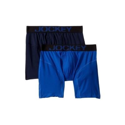 ジョッキー Jockey メンズ ボクサーパンツ 2点セット インナー・下着 Athletic Rapidcool Boxer Brief 2-Pack Vibrant Blue/True Navy