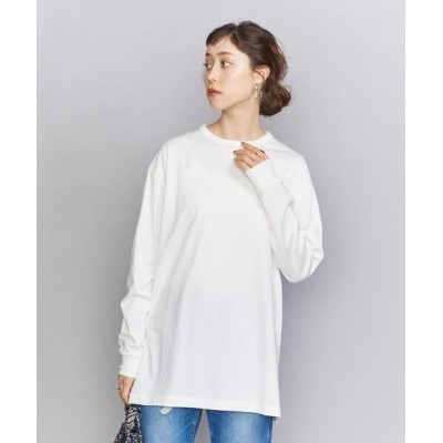 BEAUTY&YOUTH UNITED ARROWS / BY 天竺クルーネックビッグロングTシャツ WOMEN トップス > Tシャツ/カットソー