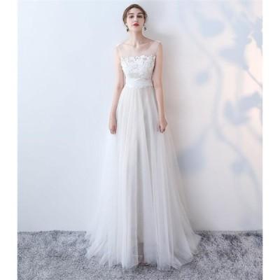 ウエディングドレス 白 大きいサイズ 花嫁 二次会 ワンピース ドレス パーティードレス ファスナー 結婚式ドレス シャンパンゴールド 刺繍 ロングドレス 演奏会