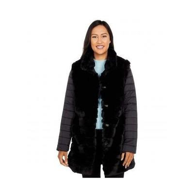 Tribal トリバル レディース 女性用 ファッション アウター ジャケット コート Fur Coat with Removable Sleeves - Black